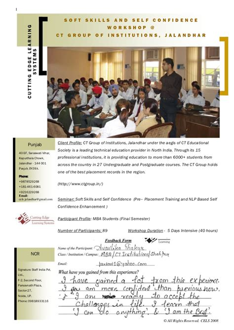 Soft Skills Activities For Mba Students by Soft Skills Workshop For Mba Students By Coporate Trainer