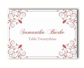 Diy Place Card Template Place Cards Wedding Place Card Template Diy Editable