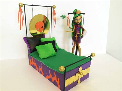 make bed higher how to make a jinafire long doll bed tutorial monster high youtube