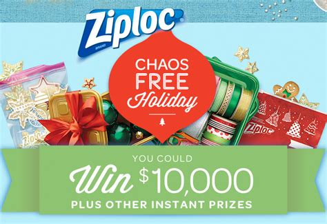 Free Online Instant Win Sweepstakes - ziploc chaos free holiday instant win sweepstakes