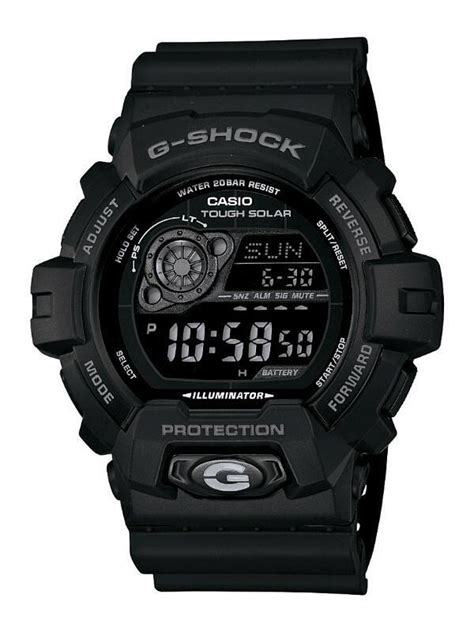 Gshock Time New Black Green 1 Casio Gents G Shock All Black Tough Solar World Time 200m