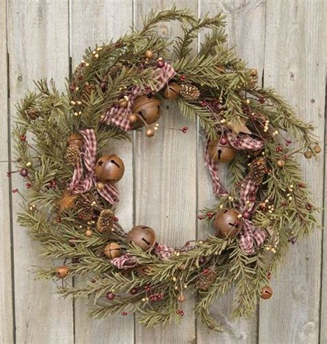 rustic holiday pine wreath christmas wreath ideas