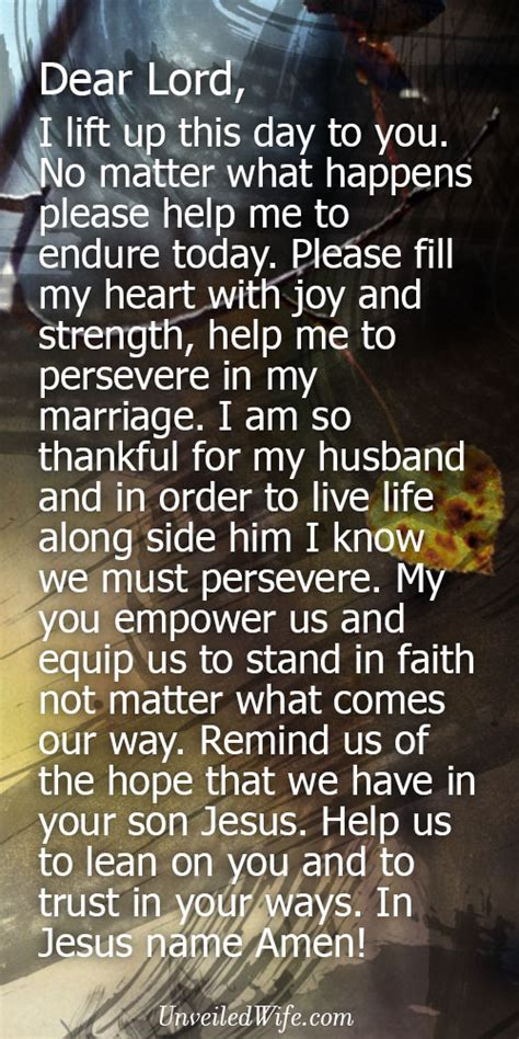 prayer   day persevering  marriage