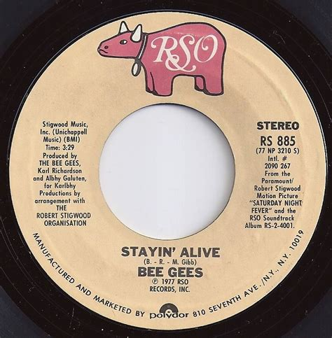 stayin alive bee gees stayin alive bee gees loved the 45 s pinterest