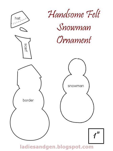 Pattern For Felt Snowman | ladies gentlemen handsome felt snowman ornament
