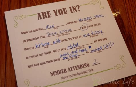 8 best images of exles of wedding rsvp cards wedding rsvp cards wording sles wedding - Wedding Response Cards Mad Libs