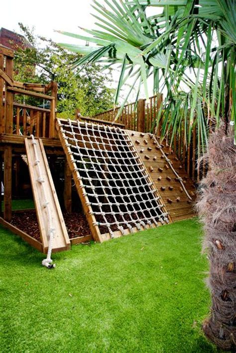 Backyard Climbing Structures turn the backyard into and cool play space for