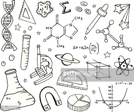 the practice and science of drawing books science doodles vector getty images