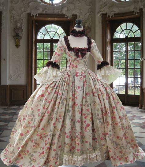 Stylish Costume Of The Day Antoinette by 18th Century Georgian Rococo Colonial Antoinette