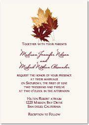 fall leaves wedding invitation kits wedding invites on autumn wedding