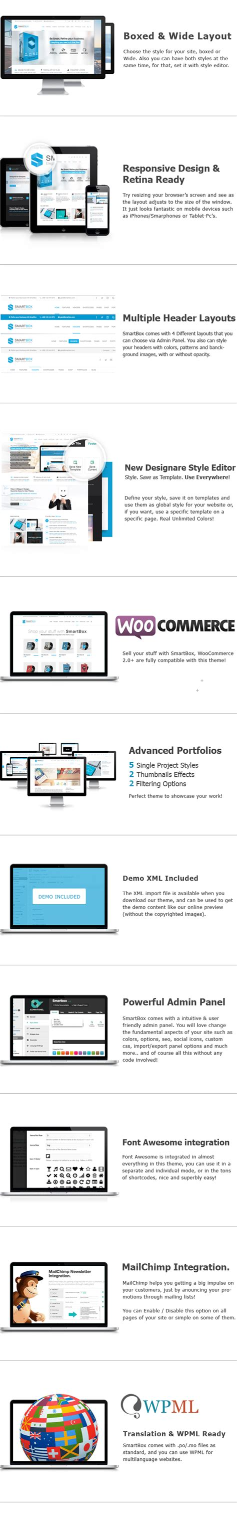 smartbox template wordpress responsive multiuso