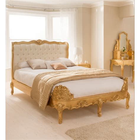 gold frame bed buy baroque upholstered gold leaf bed