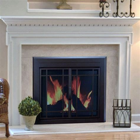 pleasant hearth enfield prairie cabinet fireplace screen