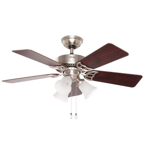 hunter breeze ceiling fans hunter southern breeze 42 in indoor brushed nickel