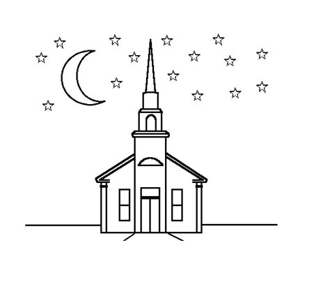 October 2012 Coloring Part 57 Coloring Page Church