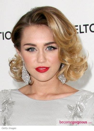 bob hairstyles evening glam curly bob hairstyle i almost didn t recognize miley
