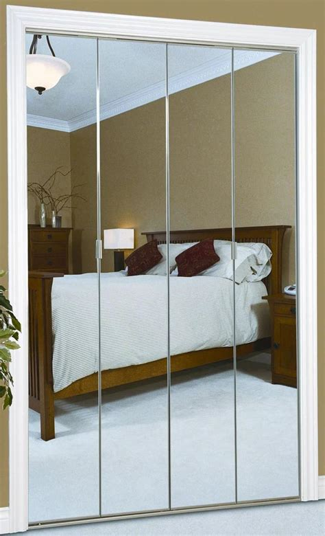 Adjusting Bifold Closet Doors Mirrored Bifold Closet Doors Selection Chocoaddicts Chocoaddicts