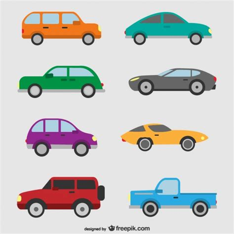 car layout vector cars set vector free download