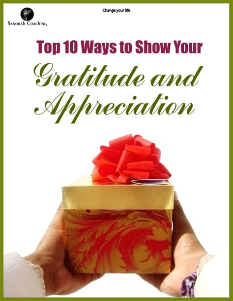 10 Ways To Show Your by Top 10 Ways To Show Your Gratitude And Appreciation 1