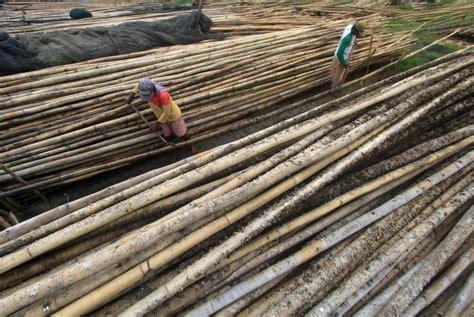 Pesanan I Ketut penjual bambu di badung kebanjiran pesanan republika