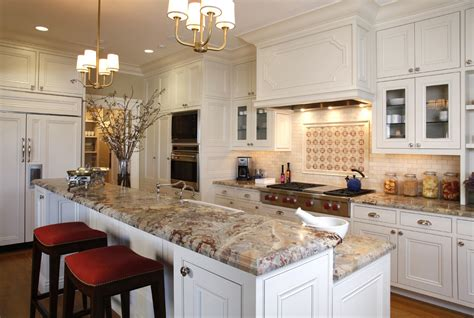 What Is The Most Popular Color For Kitchen Cabinets Most Popular Granite Colors Kitchen Traditional With Accent Tiles Bar Stools Beeyoutifullife