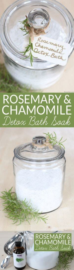 Chamomile Tea During Detox by Rosemary Chamomile Detox Bath Soak