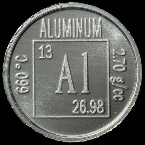 Aluminium Periodic Table by Element Coin A Sle Of The Element Aluminum In The