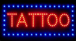 tattoo led neon open window sign tattoo