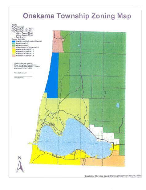 zoning map ordinances township board of onekama michigan the two lake town