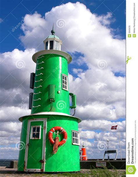 Lighthouse House Plans Green And Red Lighthouses Royalty Free Stock Photo Image