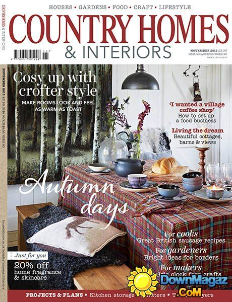 country home design magazines country homes interiors magazine november 2013