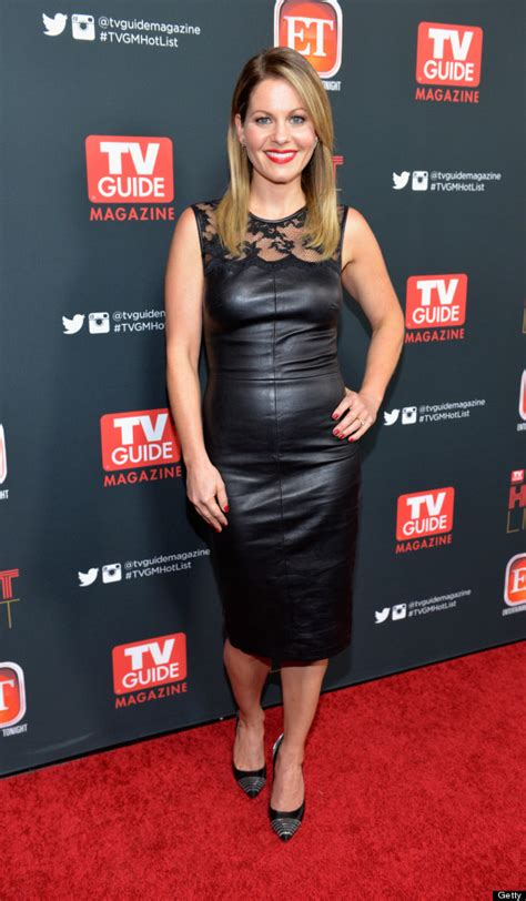 Candace Cameron Slips Into Leather Dress   HuffPost