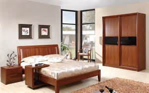 bedroom solid wood furniture set 4795 decoration
