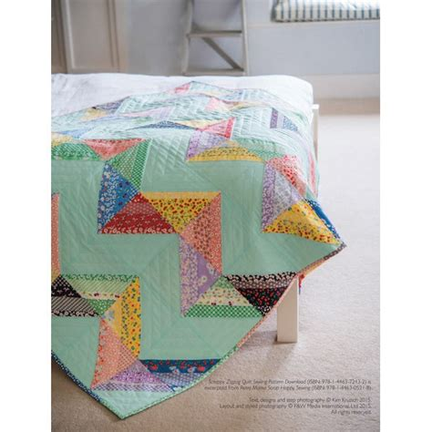 scrappy zig zag quilt pattern scrappy zigzag quilt sewing pattern download 803945 by
