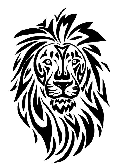 tribal lion tattoo designs tribal 15 00 via etsy tribal tattoos