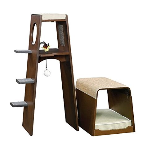 pet products modular modern cat tower 416819 sauder sauder 416819 modular modern cat tower animals pet