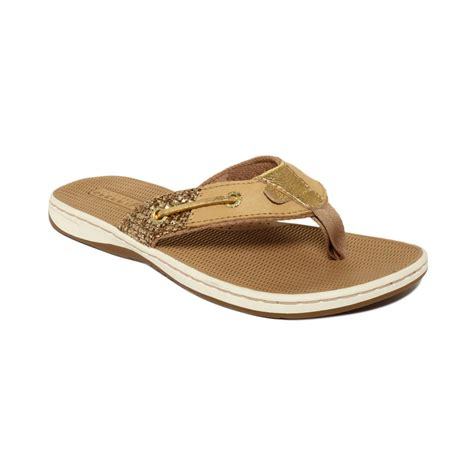 sperry s sandals sperry top sider seafish sandals in brown gold