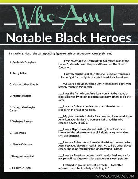 printable worksheets black history month free black history month worksheet a reading list