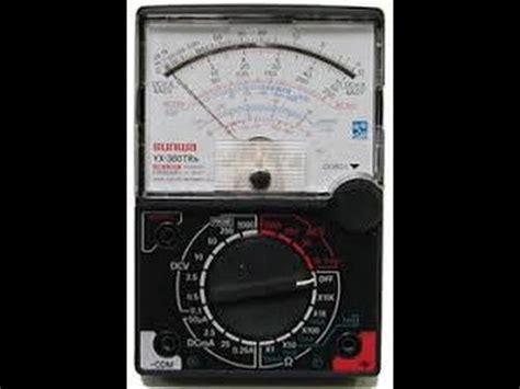 Multitester Sanwa Yx 360trd my analog multimeter samwa yx 360tr