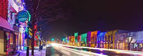 rochester michigan xmas lighting downtown michigan history
