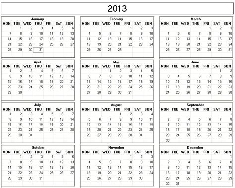 search results for free printable 2013 yearly calendar calendar 2013 printable calendar template 2016