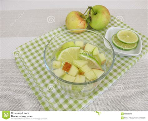 Detox Water Apple Lemon by Detox Water With Apple And Lemon Stock Photo Image 65952643