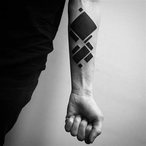 square nape line on black person 88 incredibly meaningful geometric tattoo designs