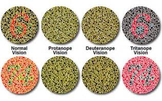 term for color blindness classification of color blindness deficiencies