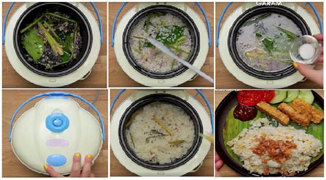 membuat nasi uduk pakai magicom resep praktis membuat nasi liwet teri medan super enak