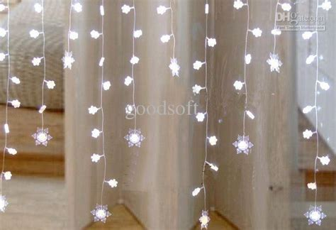 snowflake curtain lights 2 1 metres white snowflake curtain light led light string