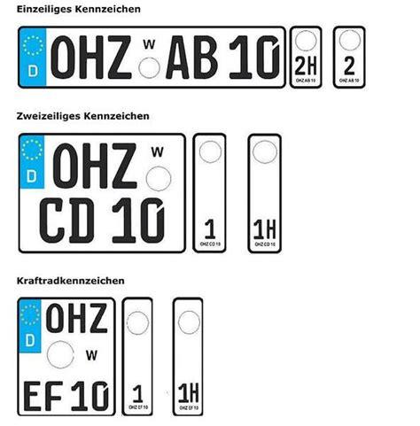 Motorrad Wechselkennzeichen wechselkennzeichen hochtaunuskreis