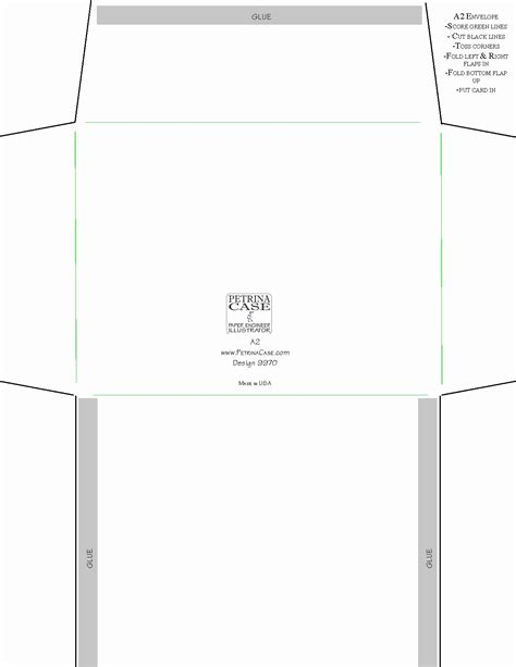 birthday card envelope template templates data