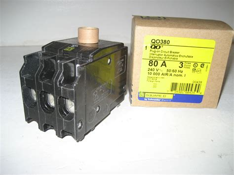 80 Circuit Breaker Price by New In Box Square D Qo380 3 Pole 80 Circuit Breaker
