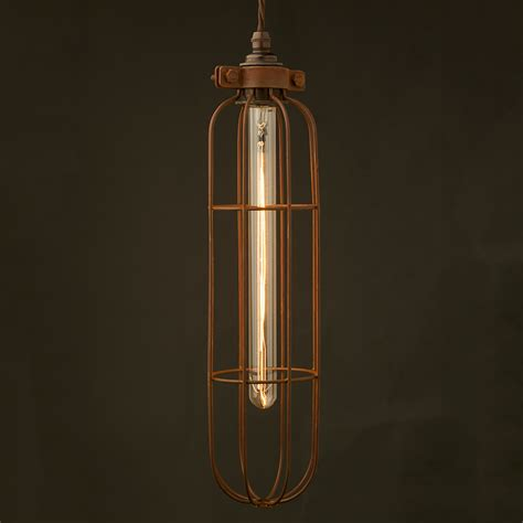 Cage Lights by Antiqued Light Bulb Cage